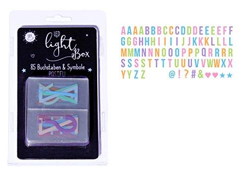 Ergänzungsset Pastel Buchstaben - für Leuchtkästen 85 Buchstaben und Symbole