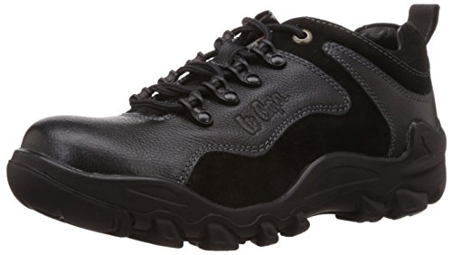 Lee Cooper Men's Black Leather Trekking & Hiking Boots - 10 UK