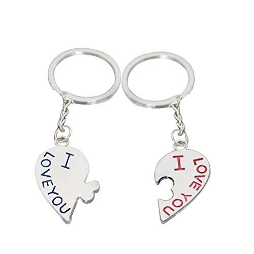 von Fablcrew   Auto Schlüsselanhänge Usb Stick Schlüsselanhänge Karabiner Schlüsselanhänger Anhänger Zubehör Schlüsselanhänger für Mädchen Zink-Legierung Küssen Stil 1 Paar (Küssen Fotos)