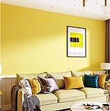 Papier peint non tissé Couleur unie 0.53x10m Jaune Papier Peint Moderne Simple Intissé Pour Chambre Salon Bureau Décoration