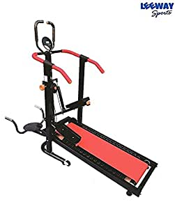 Leeway 4 in 1 Manual Jogger Treadmill  Roller Jogging Machine For Home  Foldable Tread Mill  Multifunction Walking and Jogging Running Exercise Machines  Deluxe Tradmill  Lifeline Cardio Excersice