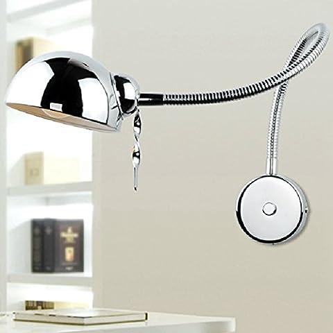Swing moderno braccio della lampada da parete del tubo flessibile Specchio Bagno Camera Luce
