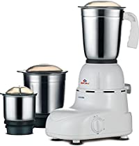 New Bajaj Glory 500-Watt Mixer grinder with 3 Jars (White) Small Kitchen