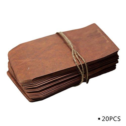 20 sobres de papel kraft de Namgiy, tamaño grande, vintage, mini dinero colorido, sobres para boda, cumpleaños, graduación, tarjetas de Navidad, manualidades con estilo al azar, 11 x 16 cm