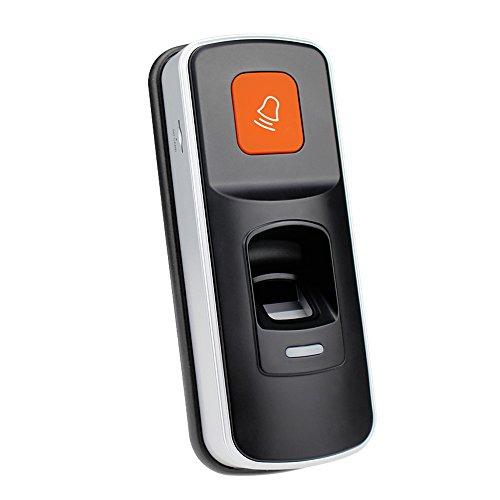 HFeng RFID Biometrischer Fingerabdruck-Leser-Zugangs-Prüfer-Finger-Scanner-Maschine EM-Karten-Verschluss mit Türklingel-Unterstützungs-Sd-Karte für Büro / Haus 1000 Benutzer Access Control Device