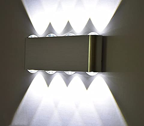 BoYX Indoor Fashion 8W Led Wall Lamp Ac100V/220V Material Aluminum Decorate Sconce Bedroom Wall Light,White Light