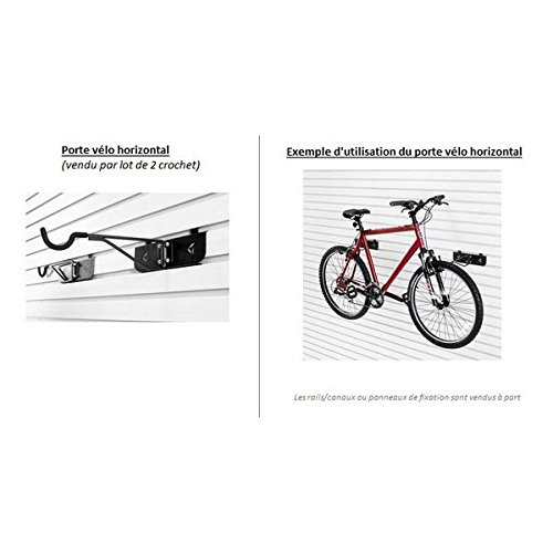 RELOOKING GARAGE GAFT04TTPC–PUERTA BICICLETA HORIZONTAL–RIGIDA SOBRE BOTONERA/CANALES EN PARED–1PAR–GAWUXXHBTG