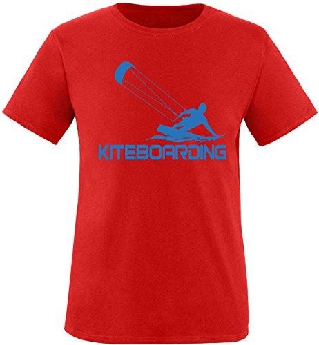 EZYshirt® Kiteboarding Herren Rundhals T-Shirt Rot/Blau
