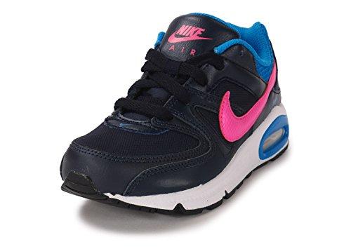 Nike Mädchen Air Max Command (Ps) Sneaker Negro / Rosa / Azul (Obsidian / Pink Pow-Photo Blue)