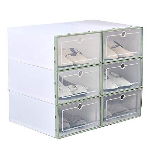 Hvoz Caja de Zapatos de plástico Transparente con diseño de Zapatero