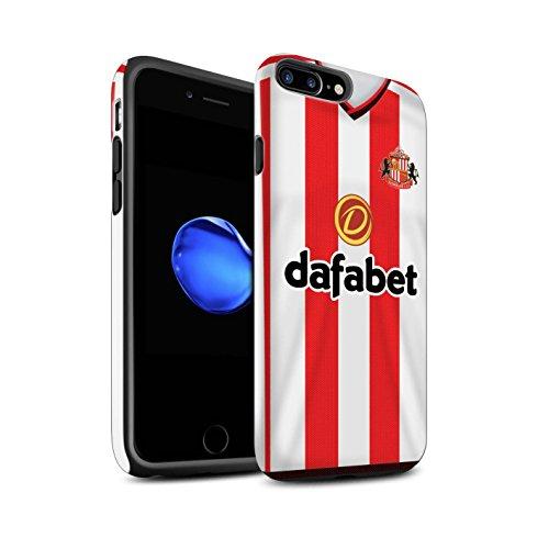 Offiziell Sunderland AFC Hülle / Matte Harten Stoßfest Case für Apple iPhone 7 Plus / Kone Muster / SAFC Trikot Home 15/16 Kollektion Fußballer