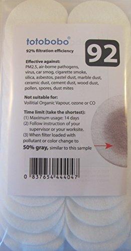 Totobobo 92% filter (15 pairs)