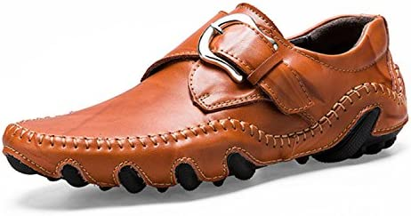 Esthesis Hombre Zapatos de Cuero Genuino Hechos a Mano Mocasines Slip On Driving Shoes Mocasines Transpirables