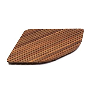 Asinox TEK3 A7171 Teak Shower Mat, Rectangular, 28 R
