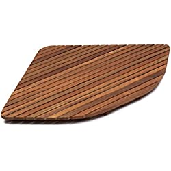AsinoX TEK3A6161 - Tarima de ducha y baño, madera de teca