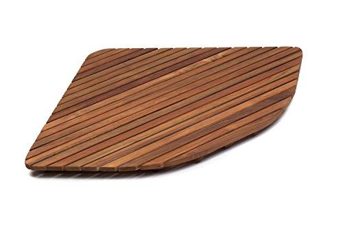 AsinoX TEK3A7171 Tarima de ducha de madera de teca Natural, 71 cm