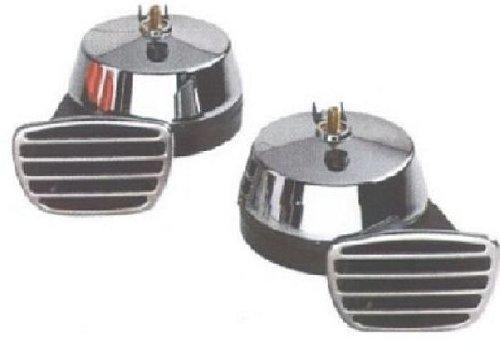 Preisvergleich Produktbild HP-Autozubehör 10712 2-Klang Elektrofanfare Chrom