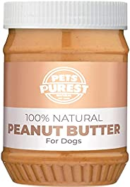 Pets Purest 100% Natural Peanut Butter For Dogs - Specially Formulated For Dogs No Added Sugar, Salt or Xylito