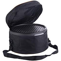 Portátil carbón vegetal Barbacoa de mesa de de Trebs sin humo y Incluye Bolsa de transporte–Ideal para camping, balcón o en casa (batería operativos, tamaño: 35x 20cm, 1,25W)