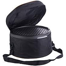 Trebs Parrilla portátil, funciona con carbón vegetal, no crea humo, incluye bolsa de