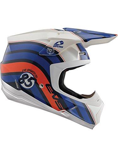 EVS Dark Blau 2018 T5 Cosmic Mx Helm (Medium, Blau) (Evs Helm)