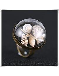Real estrella anillo, anillo de concha marina