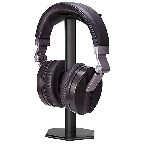 Kopfhörerständer, Minkle Universal Kopfhörerhalter für Over Ear Kopfhörer, aus Aluminium + TPU + ABS, Schwarz
