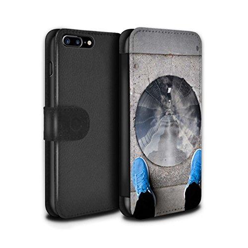Stuff4 Coque/Etui/Housse Cuir PU Case/Cover pour Apple iPhone 8 Plus / Pack 29pcs Design / Imaginer Collection Vision De Tunnel