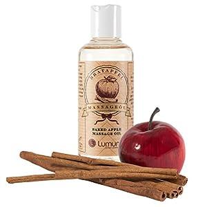 Erotik Massage-Öl mit winterlichem Duft von aphrodisierendem Zimt & Apfel (100ml) für Körper-Massagen, Paar-Massage & Intim-Massagen, von Venize
