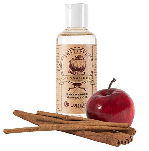 Erotik Massage-Öl mit winterlichem Duft von aphrodisierendem Zimt & Apfel (100ml) für Körper-Massagen, Sex, Paar-Massage & Intim-Massagen (100ml) (Sex Für Massage)