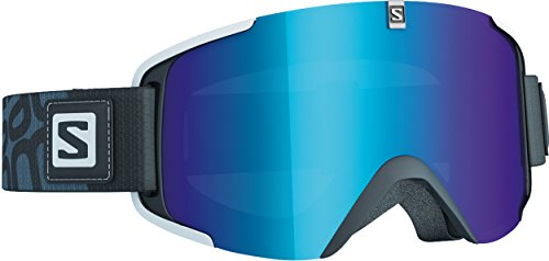 Salomon Xview - Gafas de esquí, color negro (solar blue)