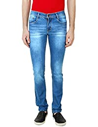 ANSH FASHION WEAR Men's Jeans - Contemporary Slim Fit Denims For Men - Washed Mid Rise Comfortable Jeans - B06XXKRLVD
