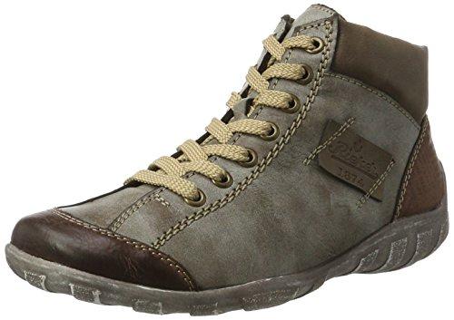 Rieker Damen L6540 Hohe Sneaker, Braun (Brandy/Cigar/Fango), 38 EU