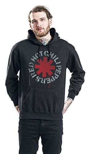 Red Hot Chili Peppers Stencil Kapuzenpulli schwarz Schwarz