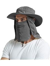 EINSKEY Wide Brim Sun Hat Summer UV Protection Beach Hat Showerproof Safari  Boonie Hat Foldable Fishing 1637015613a2