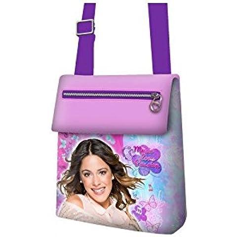 Borsetta tracolla lucida con clip e cerniere Violetta Disney - Music Love Passion