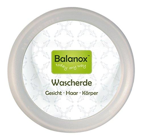 Balanox Wascherde Reiseset | biologisch abbaubare Outdoor seife | Rein minerlaisch, Vegan | 1 Tiegel + 40g Weiße Wascherde