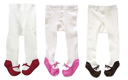 Baby Mädchen Strumpfhosen 3er Set Festlich Kinderstrumpfhose 0-3 Jahre (0-1 Jahre)