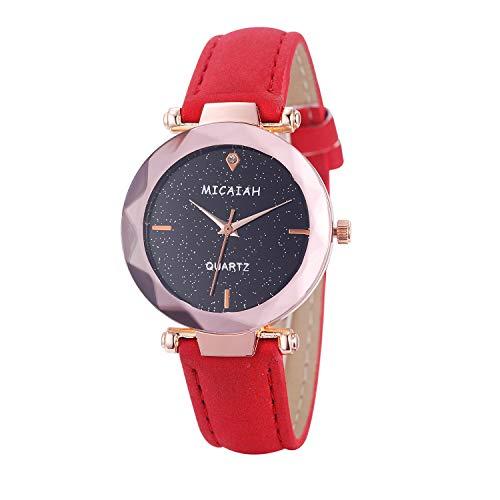 Neuer Trend  Damen Design Armbanduhr Uhr, Frauen Retro Analog Quarz Uhren Ultradünn Damenuhr Lederarmband Minimalistisch Damenarmbanduhr LEEDY