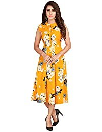 Glamorous Printed Polyester Yellow One Piece Dress