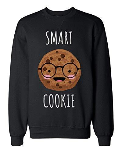 Finest Prints Smart Cookie Pun Design Unisex Sweatshirt Large