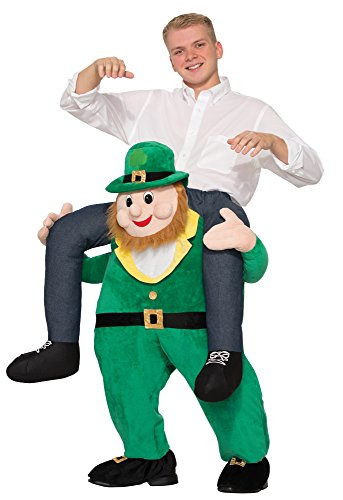 Dress Mich Fancy Tragen Kostüm (Piggy Back Leprechaun Adults Fancy Dress St Patricks Day Carry Me Irish)