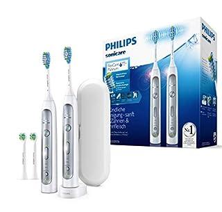 Philips Sonicare FlexCare Platinum 2 Elektrische Zahnbürsten HX9114/37 im Set - 2 Handstücke, 4 Bürstenköpfe, Drucksensor, 3 Putzprogramme, 3 Intensitäten, Timer & Etui - Weiß (B06XDJH68Z) | Amazon Products