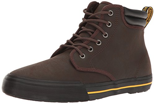 Dr.Martens Mens 6-Eyelet Eason Greasy Lamper Leather Shoes Dunkelbraun