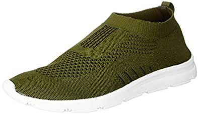 Bourge Men's Vega-8 Olive Running Shoes-6 UK (40 EU) (7 US) (Vega-8-06)
