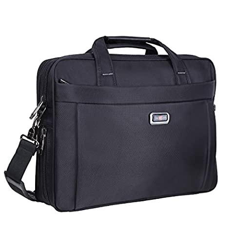 Briefcase Bag, 15.6 inch Laptop Bags, Stylish Nylon Multi-functional Organizer Messenger Bags for Men Women Fit for 15.6