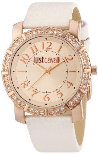 Just Cavalli R7251582502 - Reloj analógico para mujer de cuero Resistente al agua oro