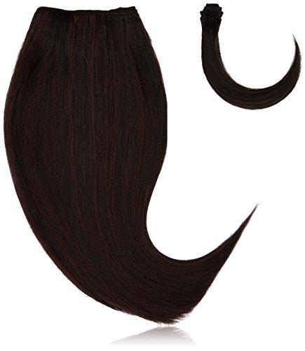 chear Silky Yaki Straight veri capelli umani estensione con Premium Tessuto misto, numero P1B/99J, Off (Di Yaki Dei Capelli Umani Weave)
