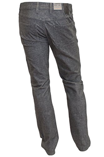 ALBERTO Garment Dyed Woll Look Retro Hose Pipe, Slim Fit 970grey