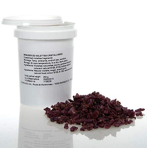 Echte Veilchen-Blüten Brisures-Stückchen, violett, kandiert, essbar, Flor & Flor, 250g